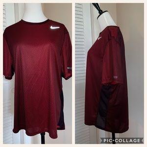 Nike Running Dri-Fit Red Black Shirt Large